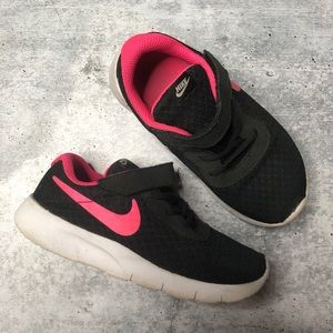 Nike Girls Hot Pink Black Velcro Sneakers